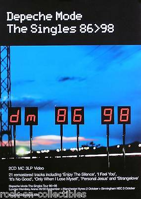Depeche Mode 1998 The Singles 96 to 98 Original UK Promo Poster