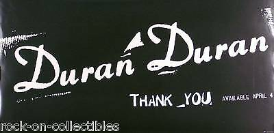 Duran Duran 1995 Thank You Original Promo Poster Double Sided