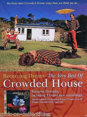 Crowded House Original 1996 Recurring Dream UK Promo Poster
