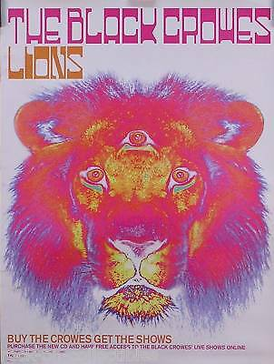 Black Crowes 2001 Lions Promo Poster