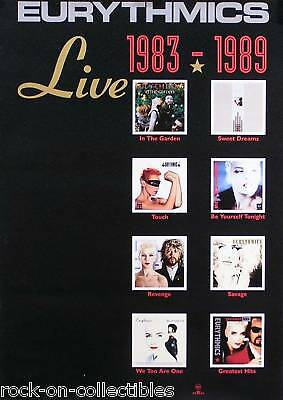 Eurythmics Live 1983-1989 Album Collection Promo Poster
