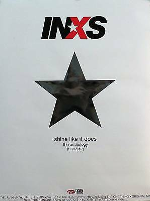 Inxs 2001 Shine Like It Does Anthology 1979-1997 Original Promo Poster