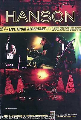 Hanson 1998 Live From Albertane Original Promo Poster