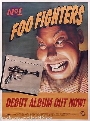 Foo Fighters Dave Grohl 1995 Original Promo Poster