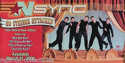N Sync 2000 No Strings Attached Promo Banner Original