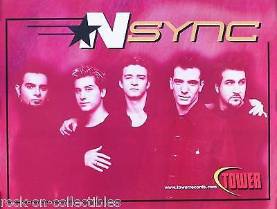 N Sync Rare Tower Records Promo Poster Original