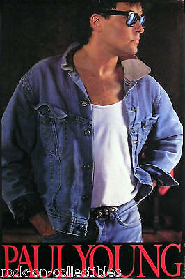 Paul Young 1986 Between Two Fires Promo Poster
