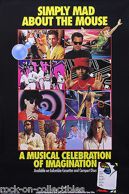 Simply Mad About The Mouse 1991 Original Promo Poster Billy Joel LL Cool J