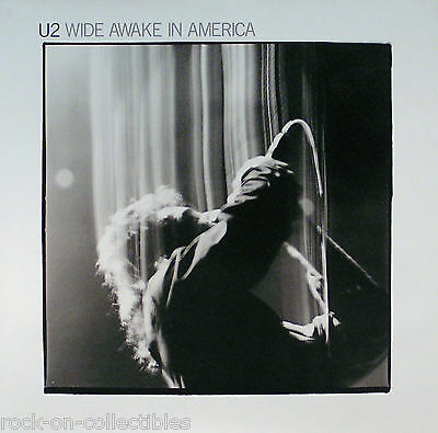U2 1985 Original Wide Awake In America Promo Poster Original