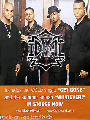 Ideal 2000 Get Done Whatever Official Virgin Records Promo Poster