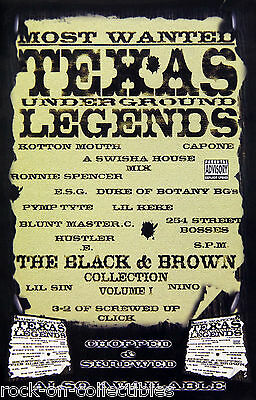 Texas Underground Legends Chopped & Screwed Official Promo Poster