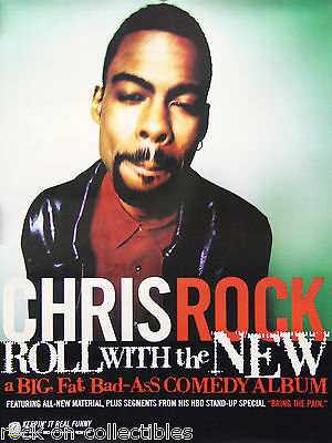 Chris Rock 1997 Roll With the New Original Promo Poster