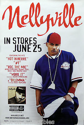 Nelly 2002 Nellyville Official Universal Records Original Promo Poster