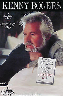 Kenny Rogers 1984 What About Me? Promo Poster Original