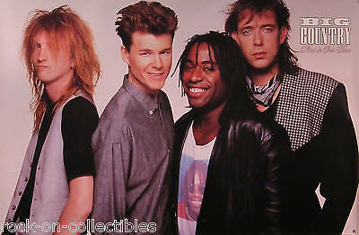 Big Country 1988 Peace In Our Time Promo Poster