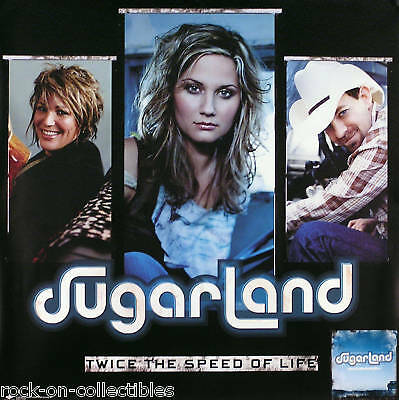 Sugarland 2005 Twice The Speed Of Life Promo Poster Original