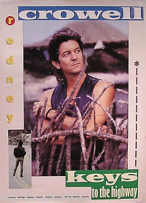Rodney Crowell 1989 Keys To The Highway Promo Poster Original
