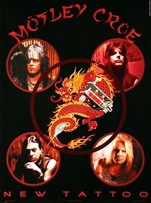 Motley Crue 2000 New Tattoo Promotional Poster Original