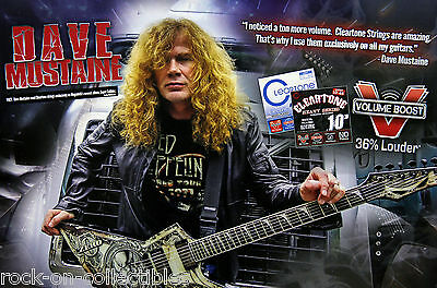 Dave Mustaine Megadeth Cleartone Strings Original Promo Poster