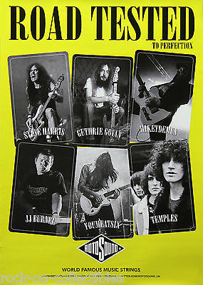 Iron Maiden Steve Harris Stranglers JJ Burnel Rotosound Music Strings Poster