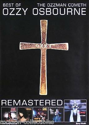 Ozzy Osbourne Ozzman Cometh Remastered Swedish Poster Original