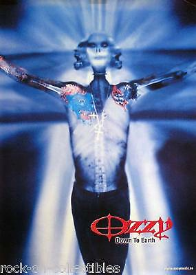 Ozzy Osbourne 2001 Down To Earth Swedish Promo Poster Original