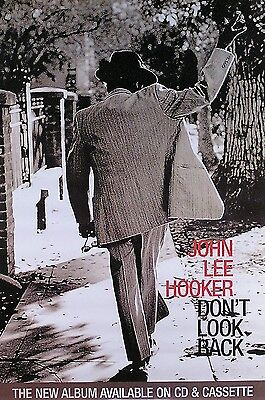 John Lee Hooker 1997 Don't Look Back Promo Poster