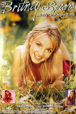 Britney Spears 1999 Perforated Pin Up Promo Poster Original