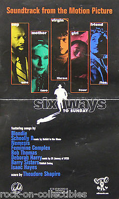 Blondie Debbie Harry Six Ways To Sunday 1997 Soundtrack Promo Poster Isaac Hayes