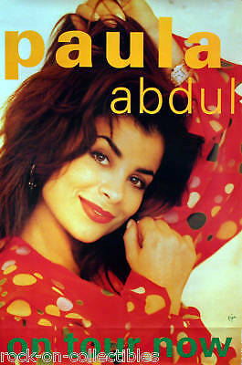 Paula Abdul Rare Unused Original Tour Poster