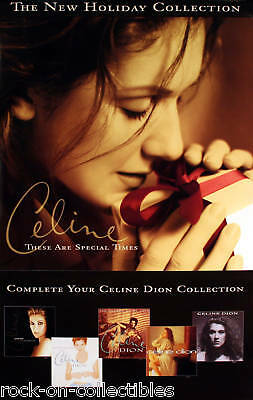 Celine Dion 1998 Holiday Gifts Promo Poster Original