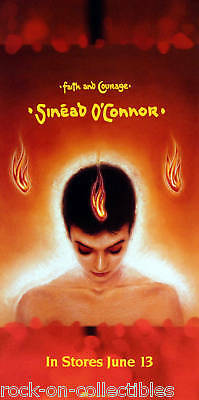 Sinead O'connor 2000 Orange Faith And Courage Poster Original