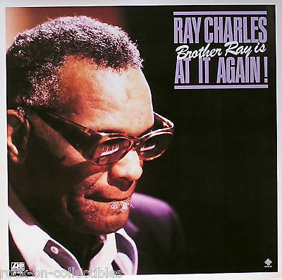 Ray Charles 1980 Brother Ray Is At It Again Original Promo Poster