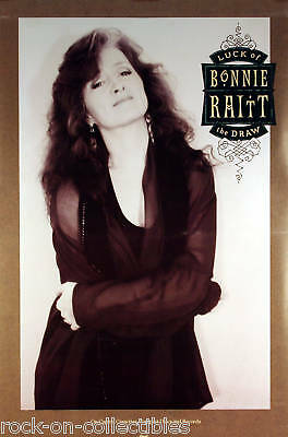 Bonnie Raitt 1991 Luck Of The Draw Promo Poster Original