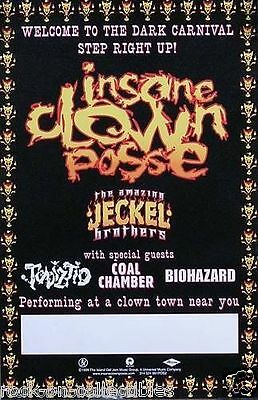 Insane Clown Posse 1999 Jeckel Brothers Original Tour Poster