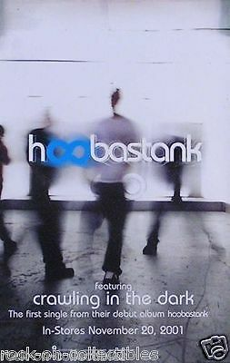 Hoobastank 2001 Debut Release Original Promo Poster Double Sided