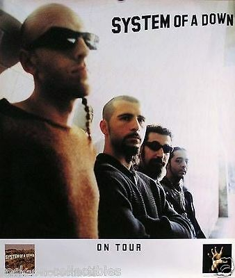 System Of A Down 2001 Original Toxicity Tour Promo Poster