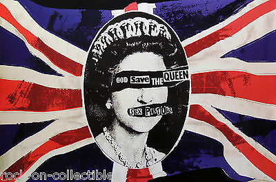 Sex Pistols 2015 God Save The Queen Union Jack Poster Sid Vicious Johnny Rotten