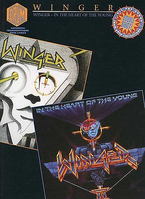 Winger 1992 Self-Titled / In The Heart of The Young Drum Score Book 2-In-1