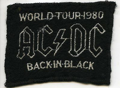 AC/DC 1980 UK Back In Black World Tour Vintage Original Concert Tour Patch