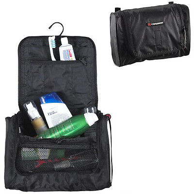 Caribee Zen Portable Toiletry Hanging Bathroom Bag Black