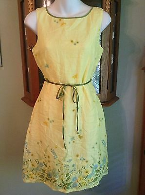 d6844d840d0dd Rare Anthropologie Odille Vintage Early 2000s Retro Floral Daisy Dress Size  6P
