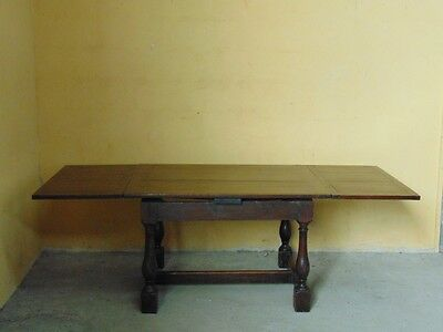 Rare 17th century  draw leaf refectory table to seat 8