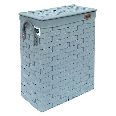 Ehc SlimLine Laundry Linen Basket Bin Bathroom Storage Hamper Basket With Lid