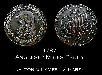 1787 Anglesey Druid Conder Penny D&H 17 Rare+