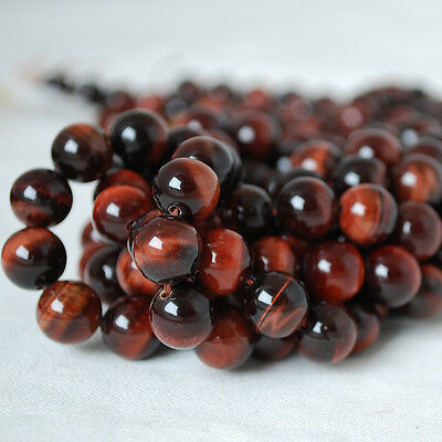 Grade A Natural Red Tigers Eye Gemstone Round Beads 4mm 6mm 8mm 10mm
