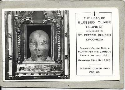DROGHEDA, St Peter's Church, Head of Blessed Oliver Plunket, Louth old postcard