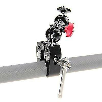 CAMVATE Pole Clamp Mount with Super Clamp and 360 degree Rotating Mini Ball Head