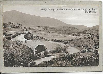 TRACY, Bridge, Mourne Mts to Happy Valley, Co Down, Ireland old postcard