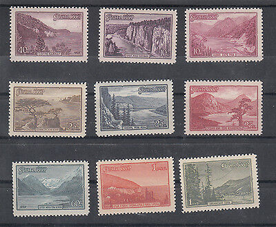 Russia: 1959 Tourist Publicity set of 9 stamps. SG2399/2407. MUH/MNH.Going cheap